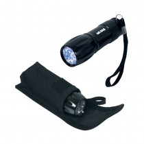 9 LED Mini Flashlight - Black